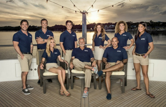 BELOW DECK -- Season:3 -- Pictured: (l-r) Don Abenante , Emil Kotze, Kate Chastain, Eddie Lucas, Lee Rosbach, Amy Johnson, Leon Walker, Raquel Bartlow, Connie Arias -- (Photo by: Virginia Sherwood/Bravo)