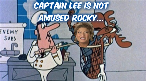 Capt Lee Not Amused Rocky