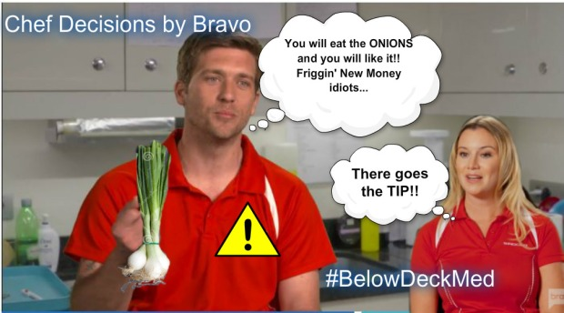 Onions and tip
